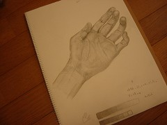 自分の左手