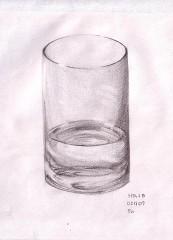 グラス・水入り
