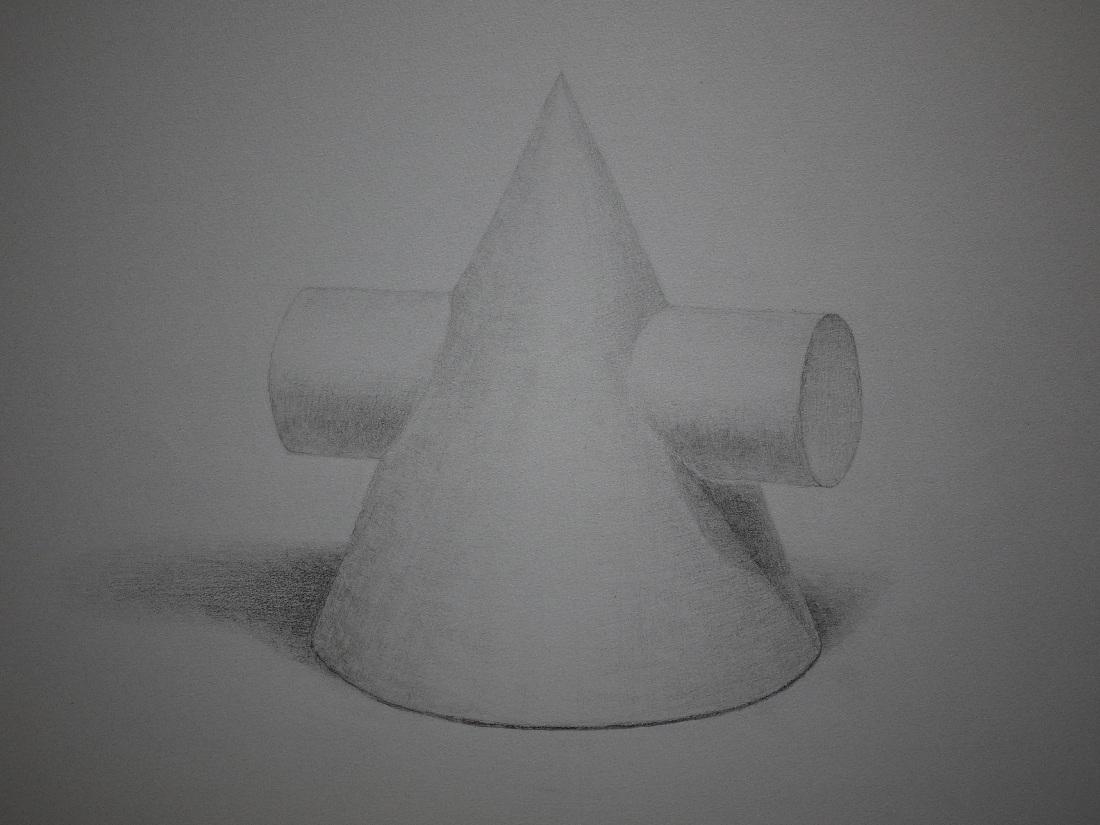 円錐円柱相貫体