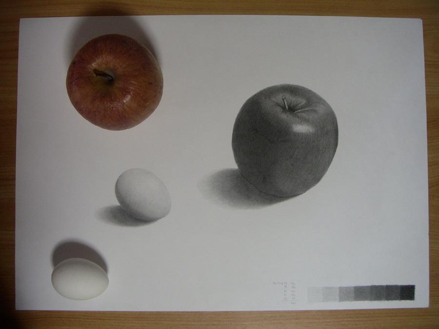 リンゴと卵10