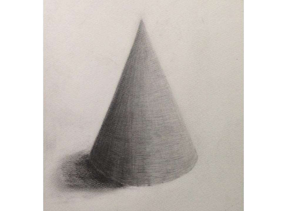 三角錐(石膏)