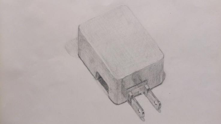 ドコモの充電器プラグ部分(白)