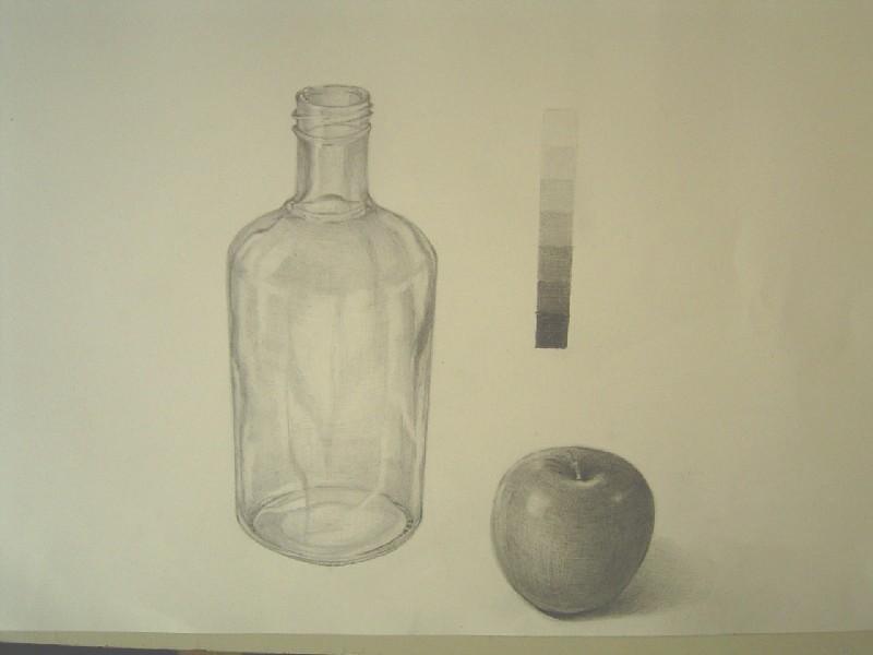 ビンと林檎