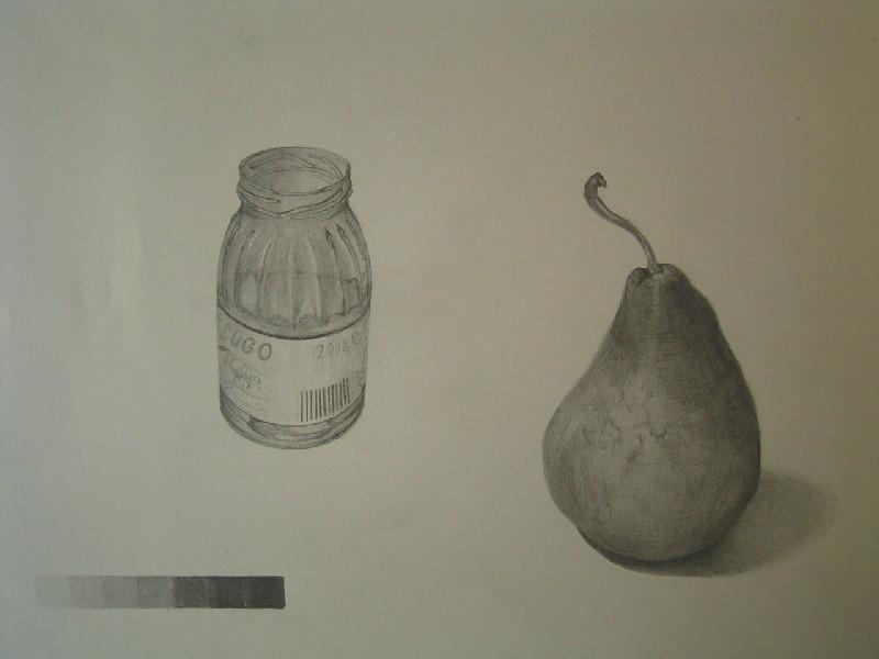 洋ナシと小瓶