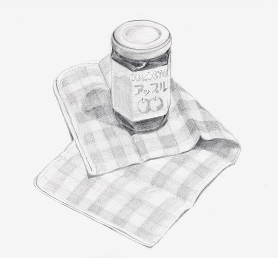 ジャムと布巾