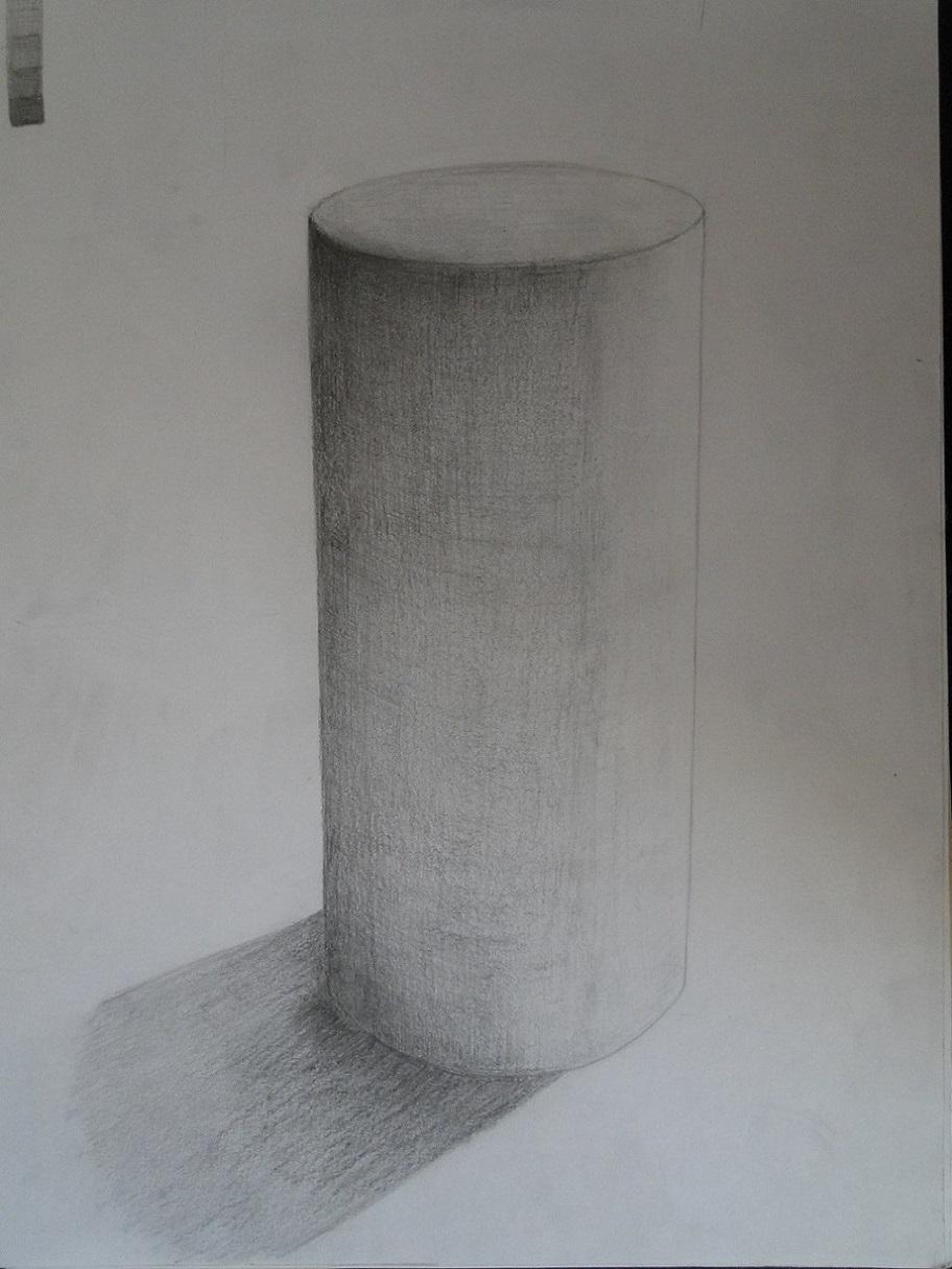 円柱の石膏