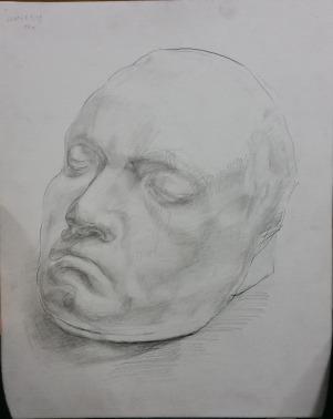 顔の石膏像