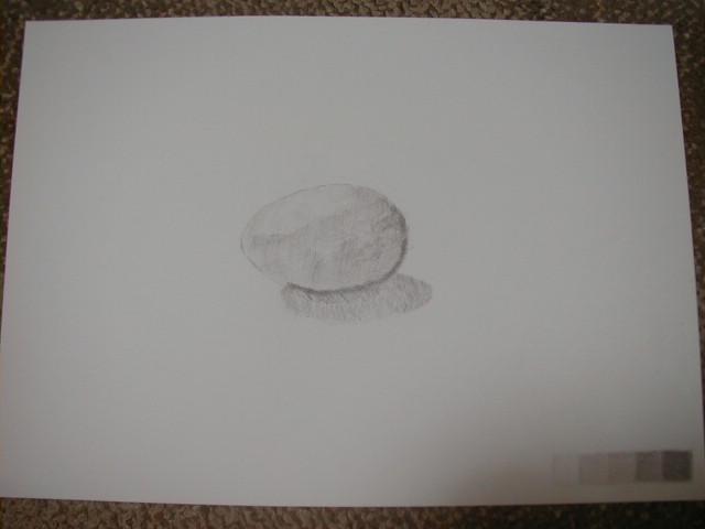 卵を描きました