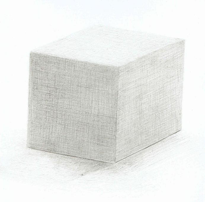 紙で作った立方体