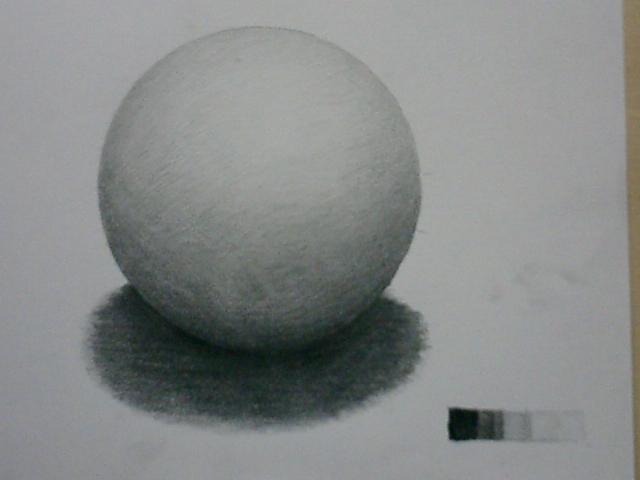 トーンだけで球体を描く