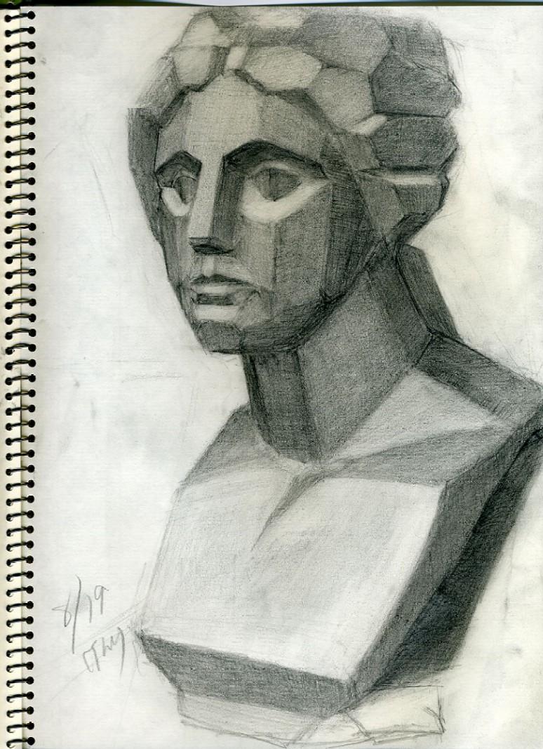 面取り石膏像