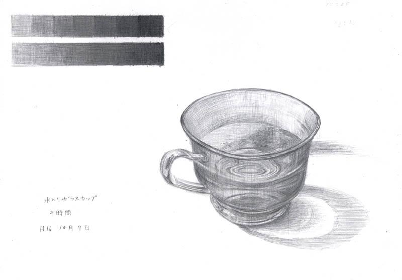 水入りガラスカップ2
