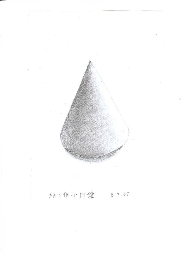紙で作った円錐
