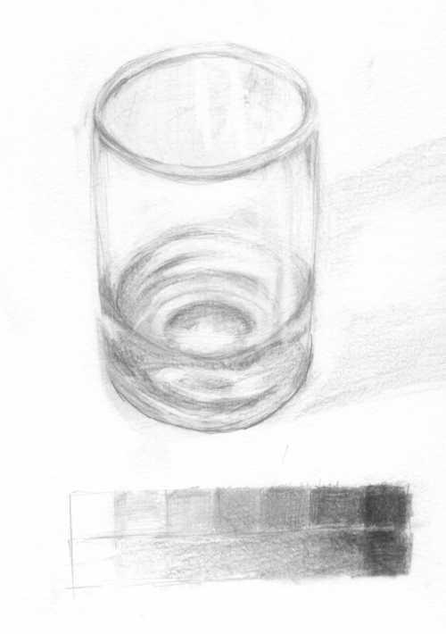 底の厚いガラス製品(コップ)