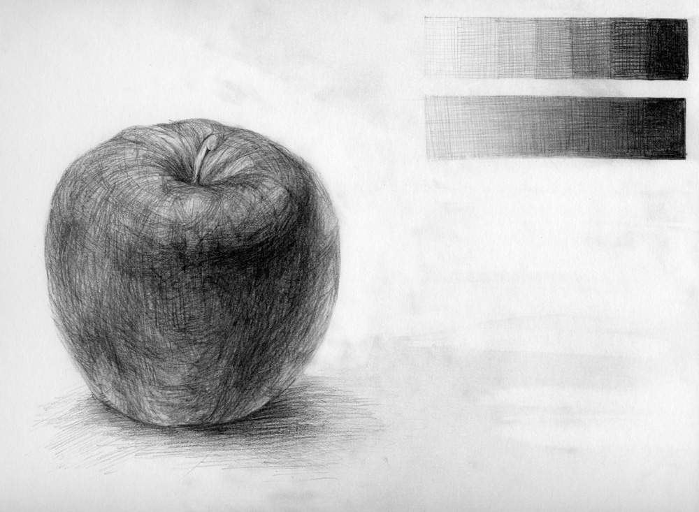 リンゴを描きました。