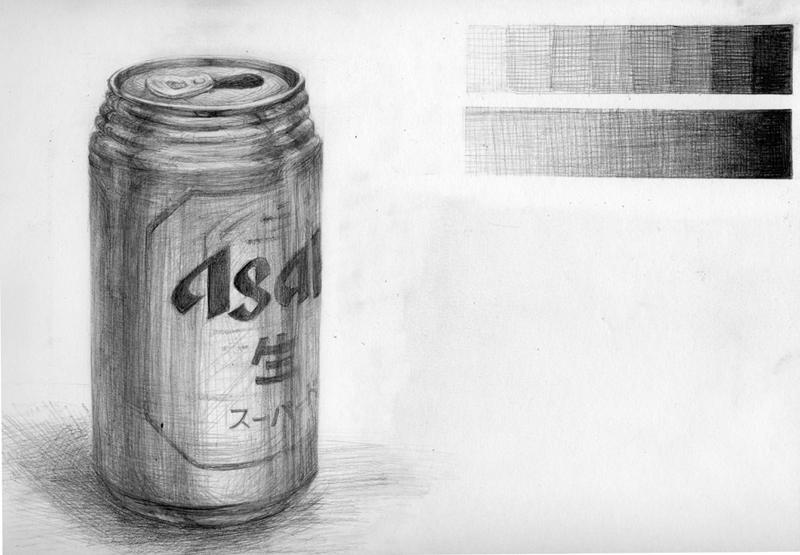 缶ビールを描きました。