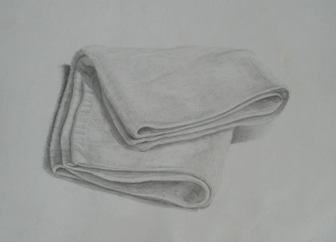 使い古しの白いタオル