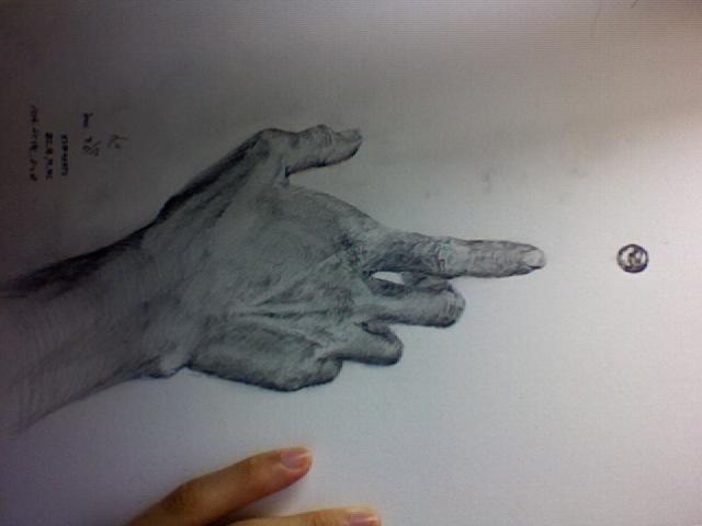 左手(逆になっています