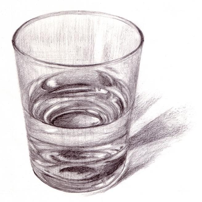 ガラスのコップ
