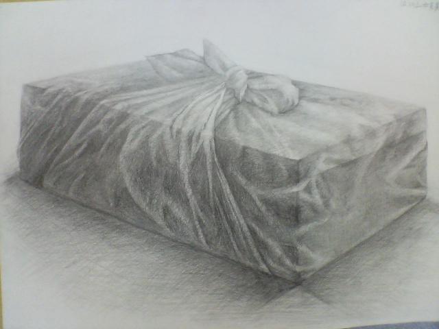 布に包まれたブロック
