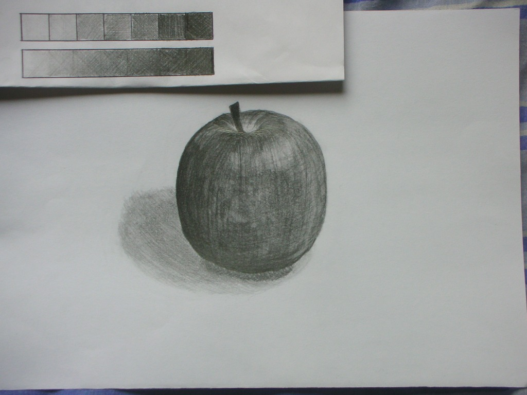林檎を描きました。
