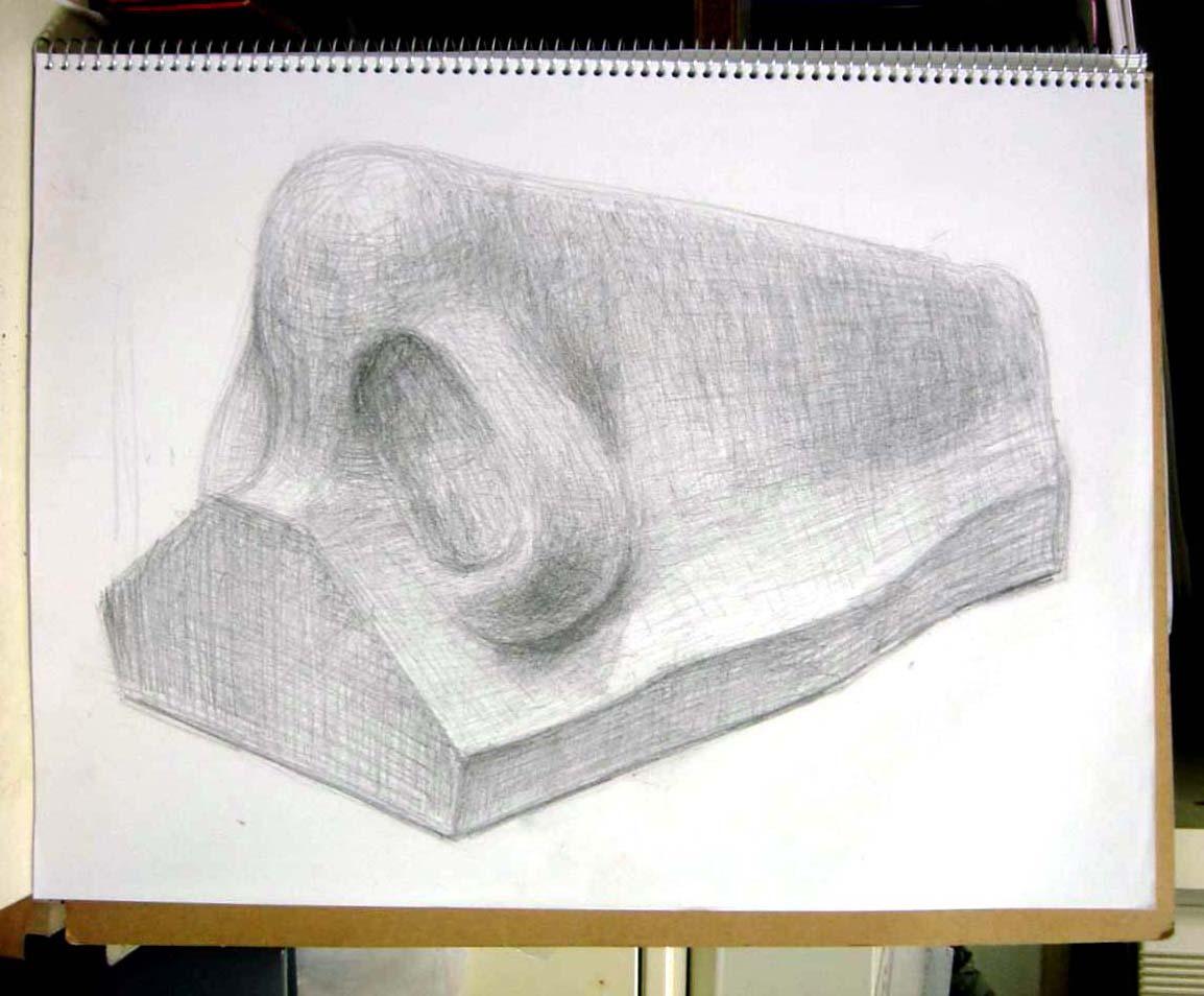 鼻の石膏像
