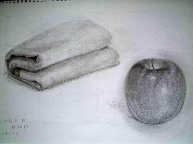 林檎とタオル