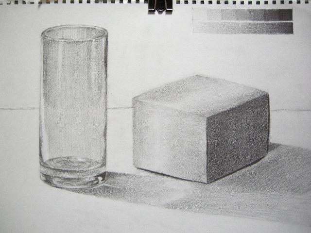 ガラスコップと箱