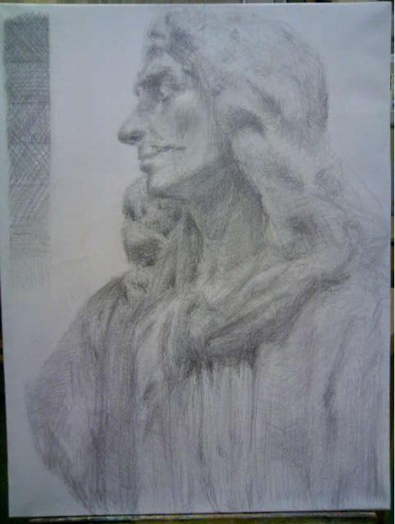 石膏像 モリエール