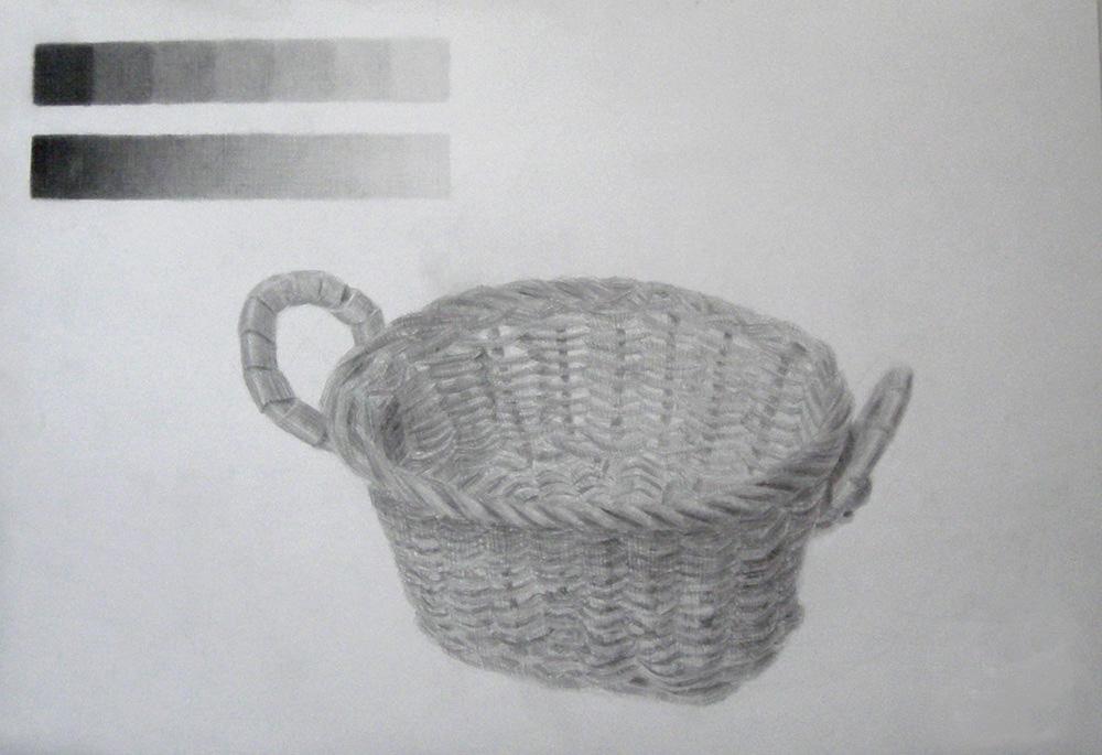 編んだカゴ