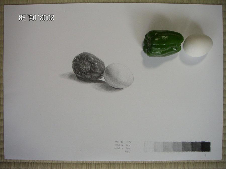 ピーマンと卵02