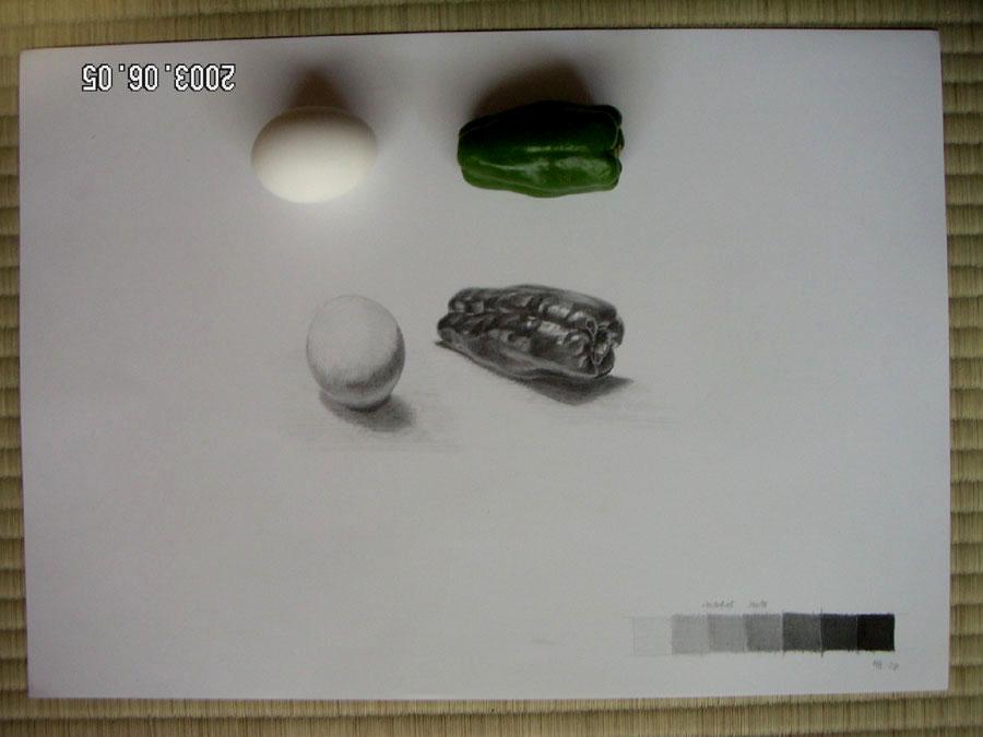 ピーマンと卵05