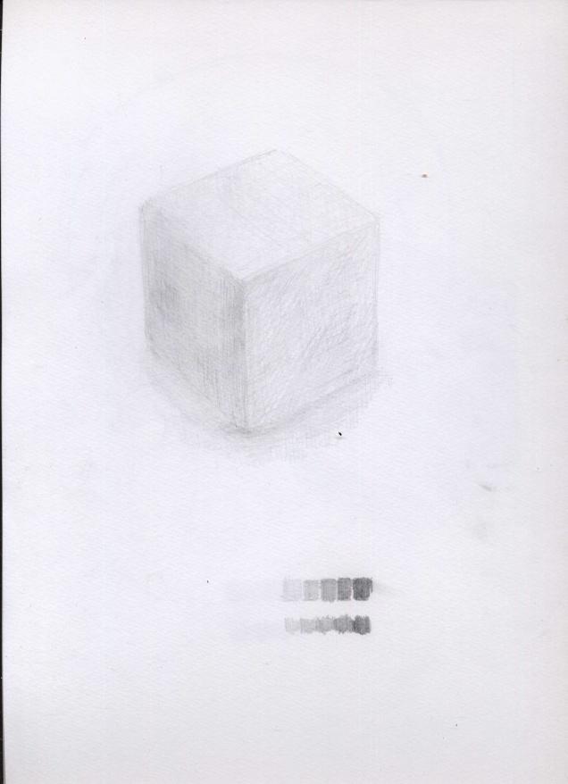 正方形をデッサン