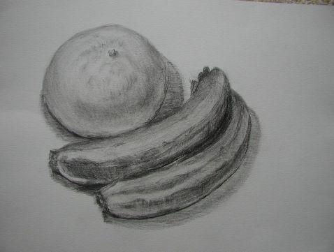 文旦とバナナ