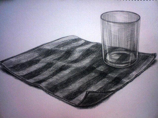 コップとハンドタオル
