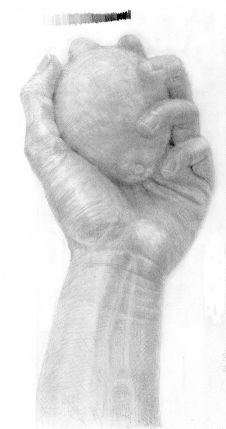 手とレモン