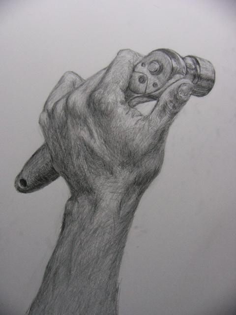 工具を持った手