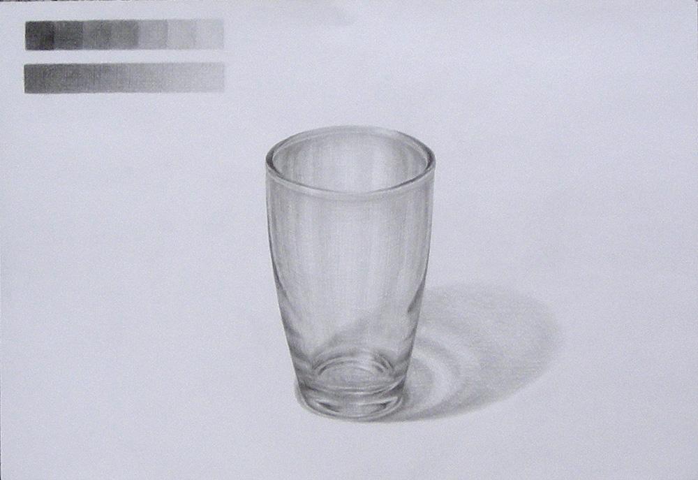 やさしい形のグラス