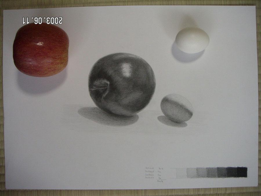 リンゴと卵02