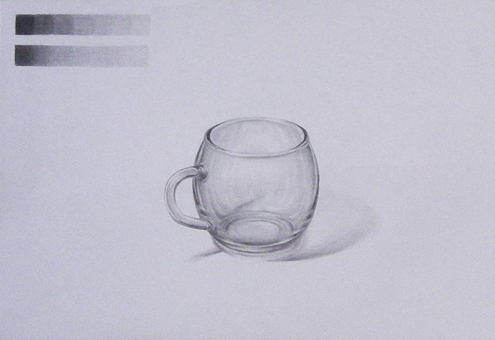 丸いガラスのコップ