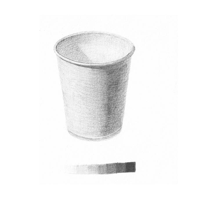 白い紙コップ