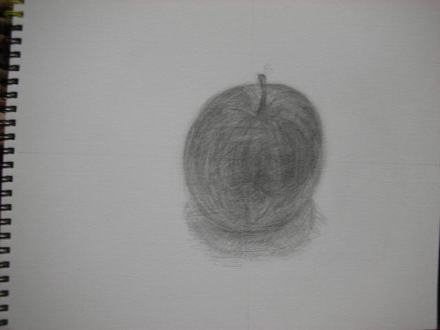 林檎のデッサン
