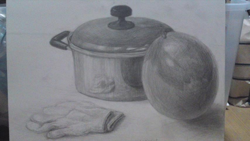 Re: 鍋、風船、軍手(模写)