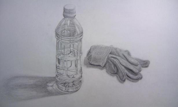 ペットボトルと手袋