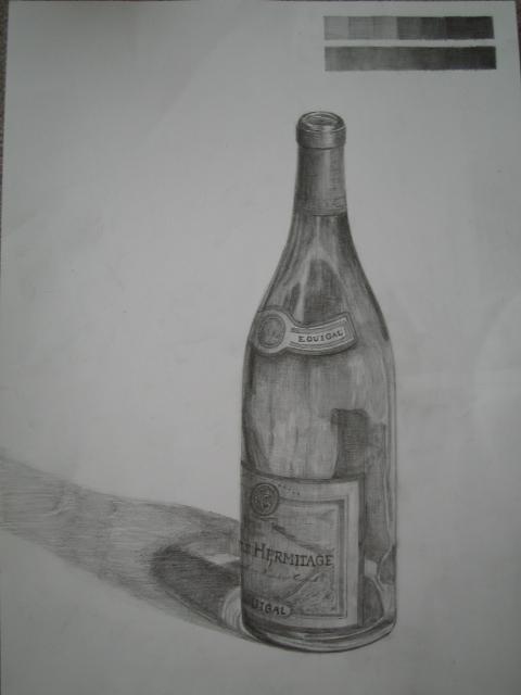 白ワインの瓶