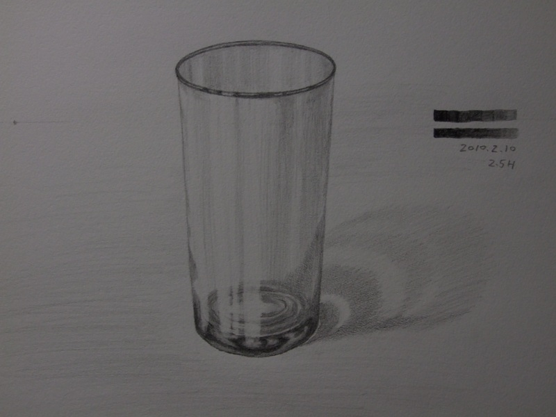 ガラスのコップ�A