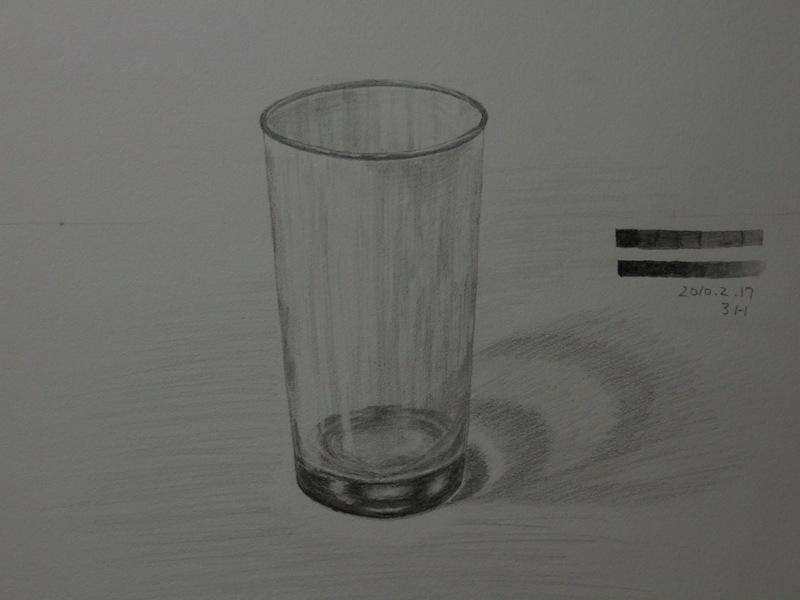 ガラスのコップ�B
