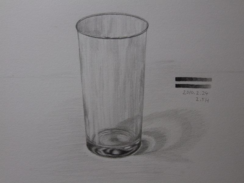 ガラスのコップ�C