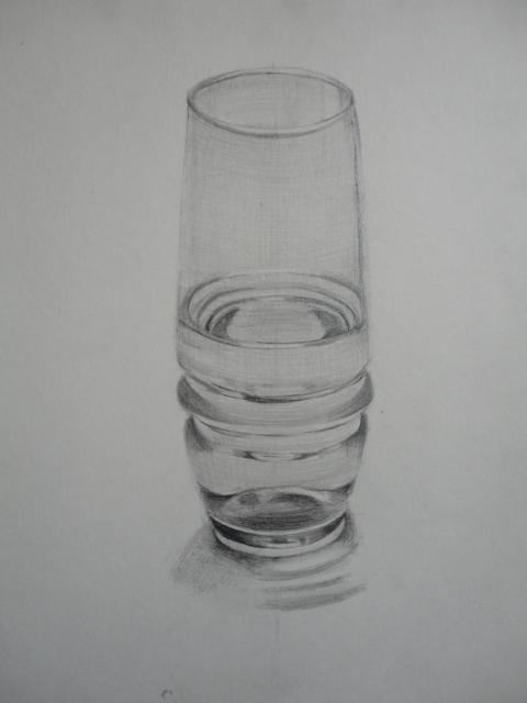 水入りガラスコップ