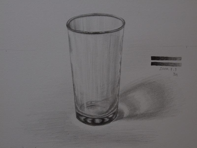ガラスのコップ�D